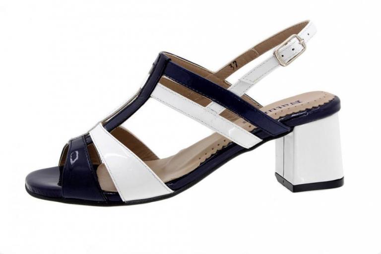 Heel Sandal Patent Blue 1496