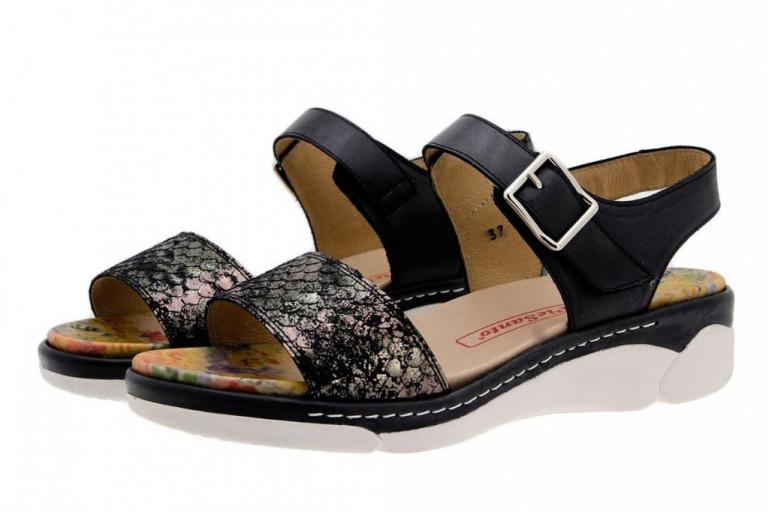 Removable Insole Sandal Black Snake