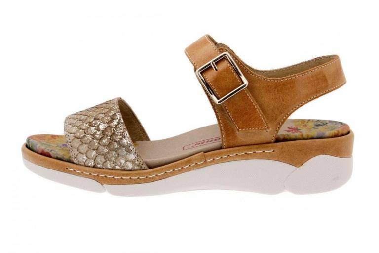 Removable Insole Sandal Snake Tan 1501