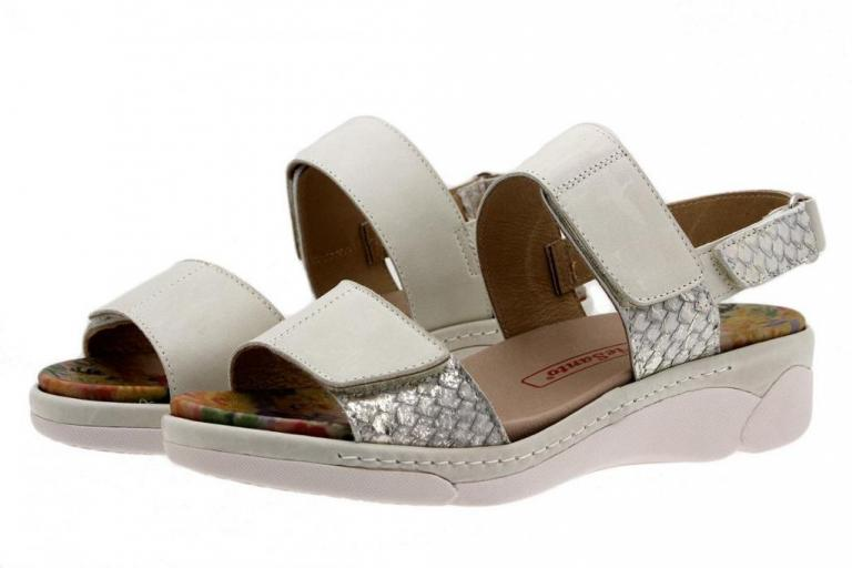 Removable Insole Sandal Leather White 1503