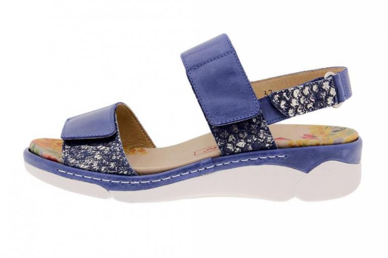Removable Insole Sandal Leather Blue 1503