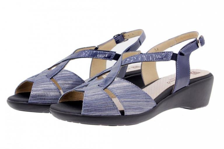 Wegde Sandal Snake Blue 1552