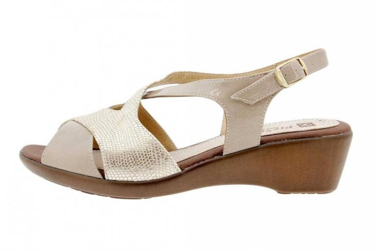 Wegde Sandal Patent Mink 1553