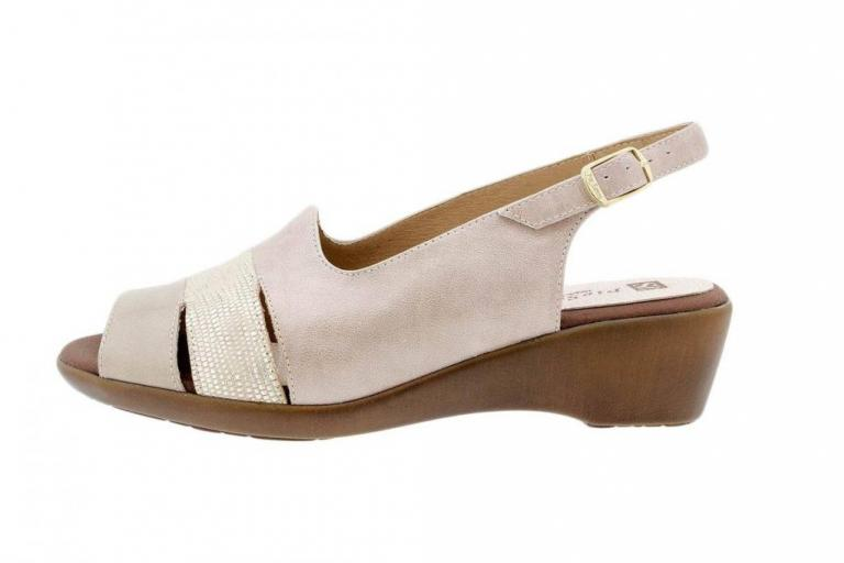 Wegde Sandal Patent Mink 1554