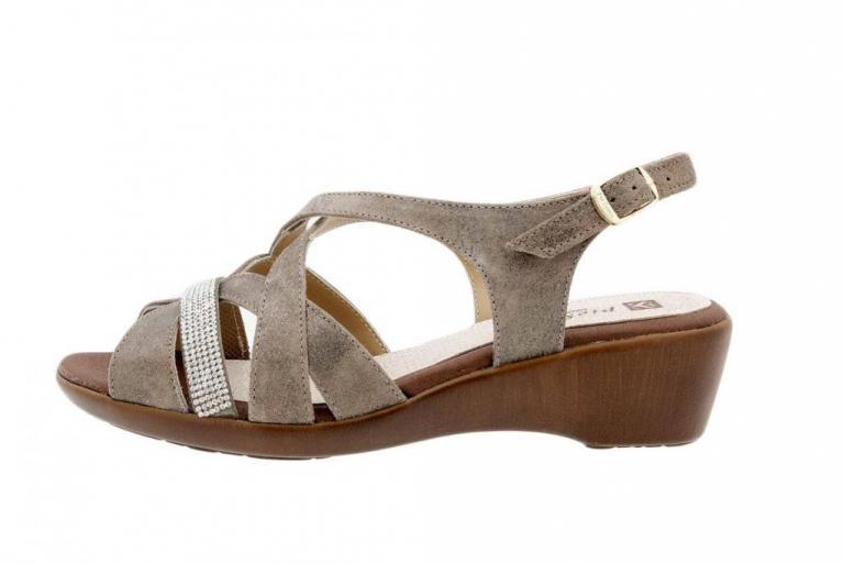 Wegde Sandal Metal Suede Mink 1558