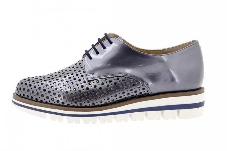 Tie shoe Mirror Blue 1702