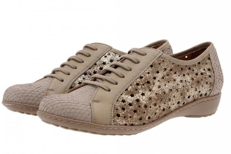Tie shoe Print Mink 1752