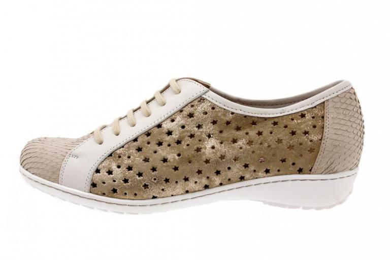 Tie shoe Print Beige