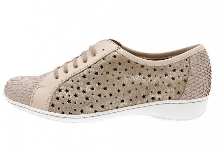 Tie shoe Print Nude 1752