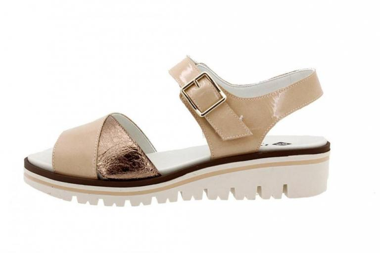 Removable Insole Sandal Patent Nude 1778