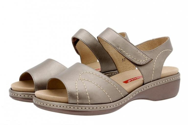 Removable Insole Sandal Metal Taupe 1801