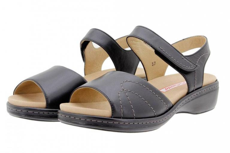Removable Insole Sandal Leather Black 1801