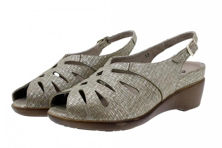 Removable Insole Sandal Print Beige 180154
