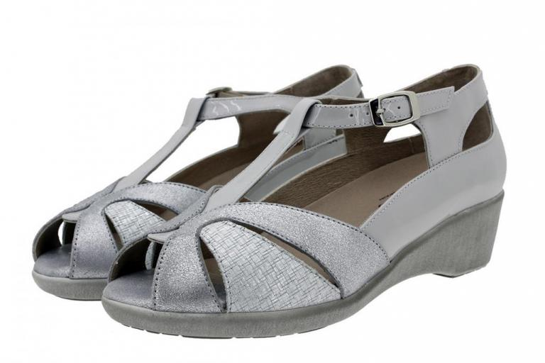 Removable Insole Sandal Grey Metal Suede 180160