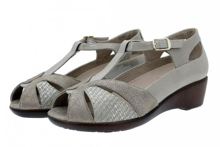 Removable Insole Sandal Metal Suede Mink 180160