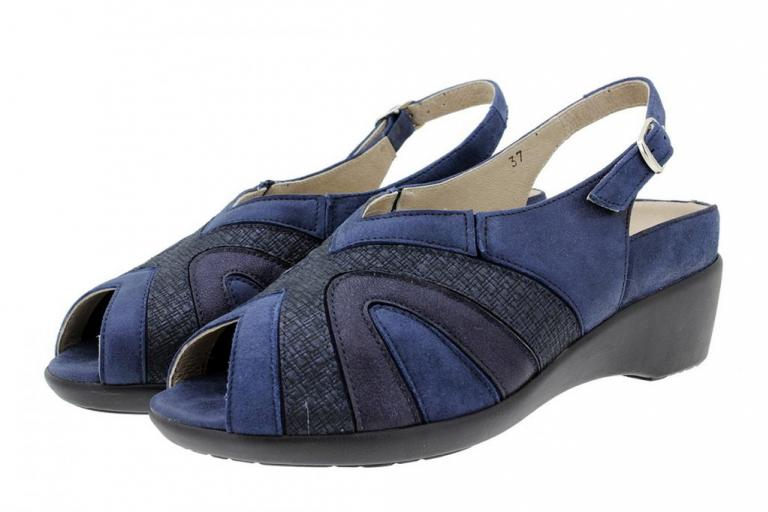 Removable Insole Sandal Metal Suede Blue 180162