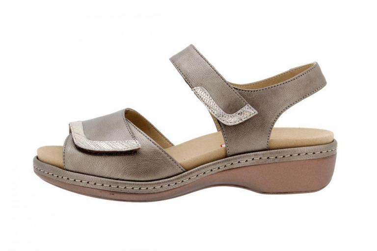 Removable Insole Sandal Metal Taupe 1802