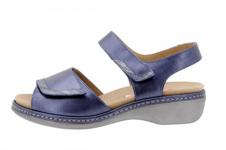 Removable Insole Sandal Metal Blue 1802
