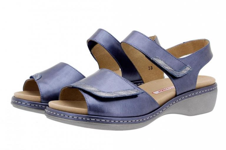 Removable Insole Sandal Metal Blue 1802