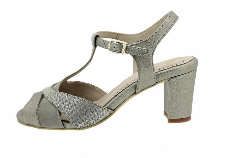 Heel Sandal Mink Metal 180258