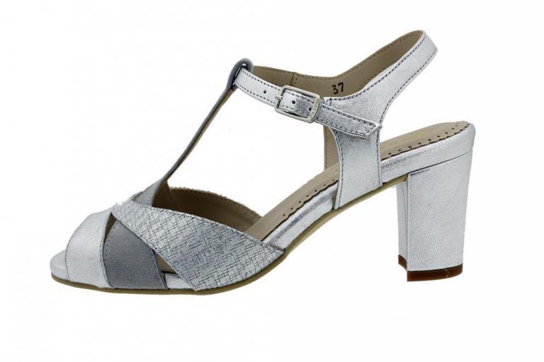 Heel Sandal Silver Metal 180258