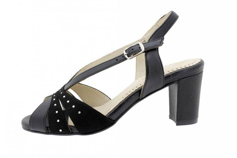 Heel Sandal Black Metal 180260