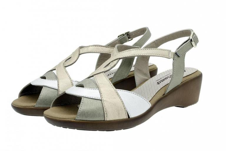 Wegde Sandal Mink Metal 180552