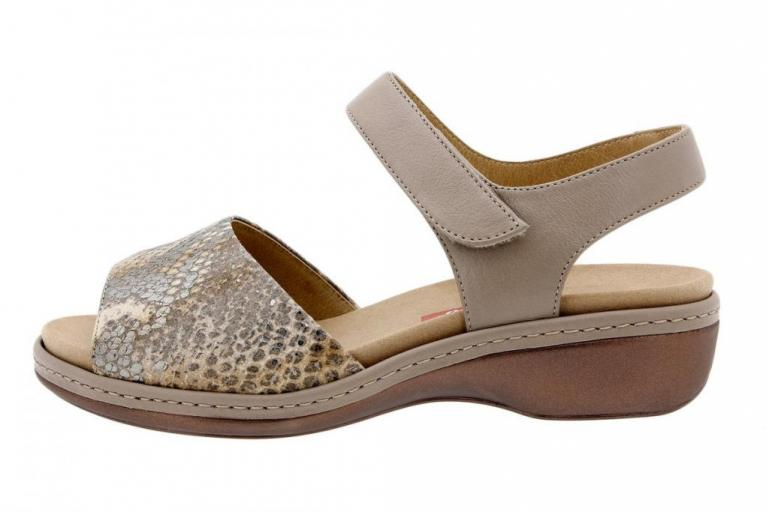 Removable Insole Sandal Snake Tan 1807
