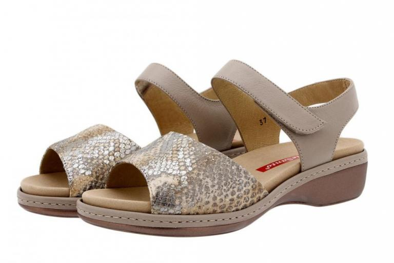 Removable Insole Sandal Tan Snake