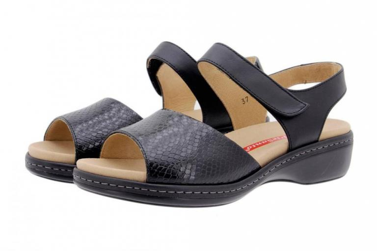 Removable Insole Sandal Snake Black 1807