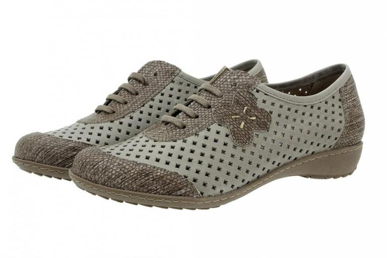 Lace-up Shoe Taupe Print 180751