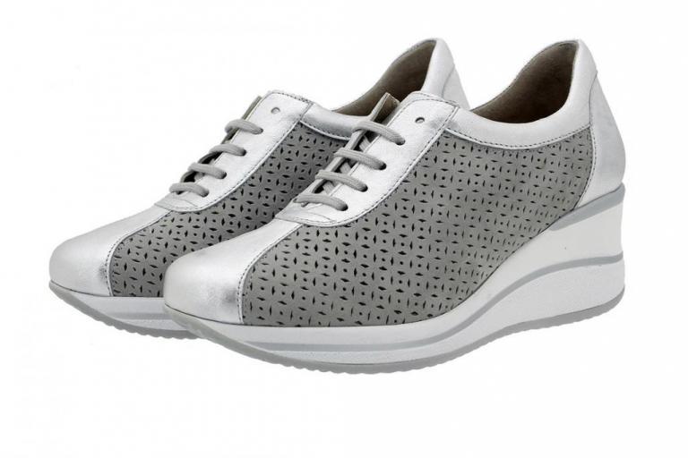 Sneaker Silver Metal 180765