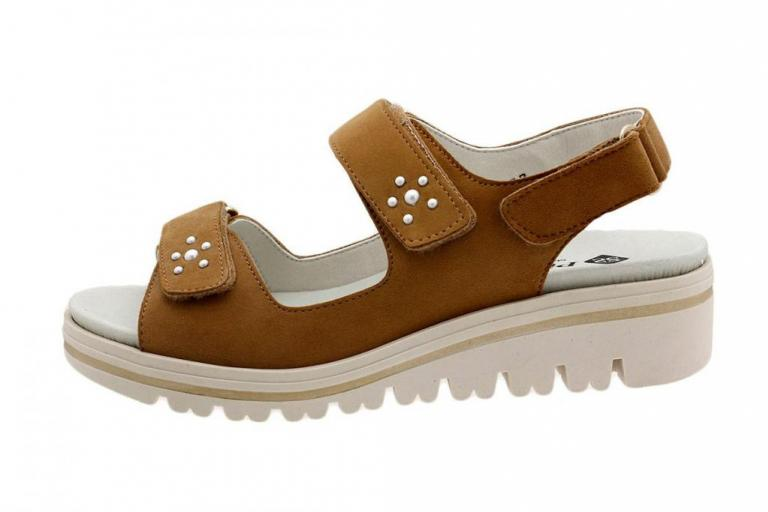 Removable Insole Sandal Tan Suede 180781