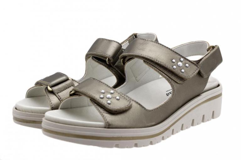 Removable Insole Sandal Mink Suede 180781