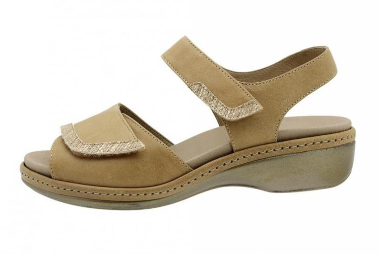 Removable Insole Sandal Beige Leather 180802