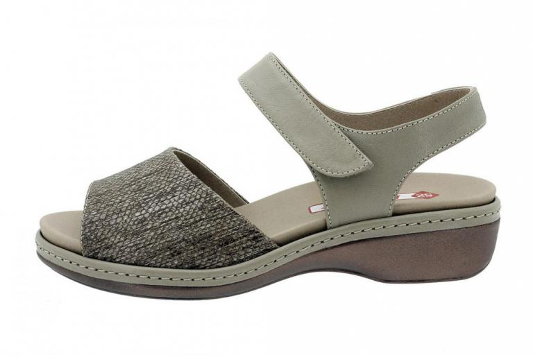 Removable Insole Sandal Print Taupe 180807