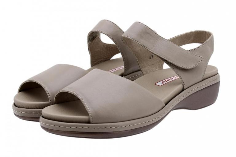 Removable Insole Sandal Taupe Leather 180807