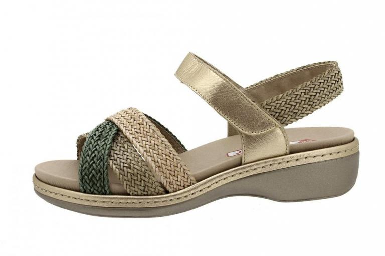 Removable Insole Sandal Green-Mink-Sand Interlaced 180809