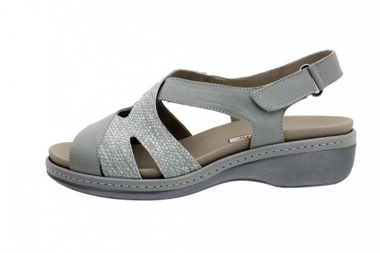 Removable Insole Sandal Leather Grey 180813