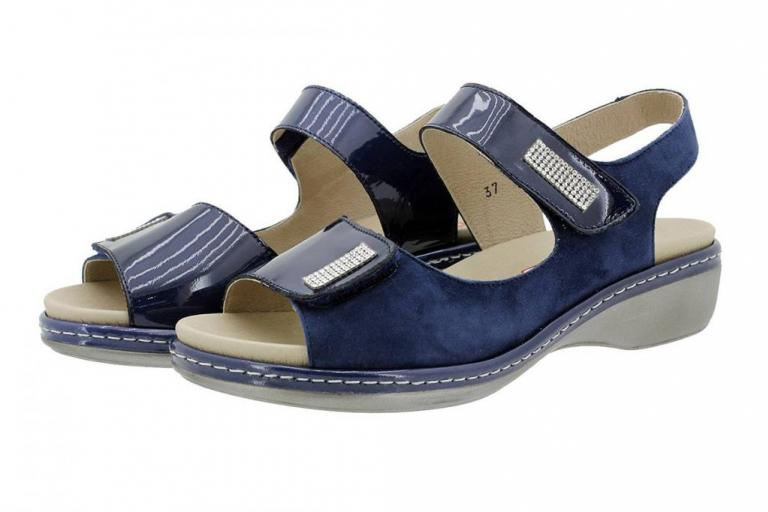 Removable Insole Sandal Blue Patent 180818