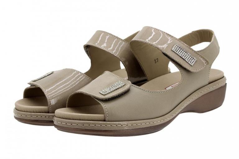 Removable Insole Sandal Mink Patent 180818