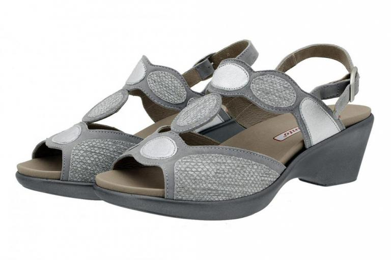 Removable Insole Sandal Suede Grey 180863