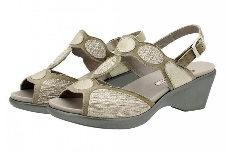 Removable Insole Sandal Suede Beige 180863