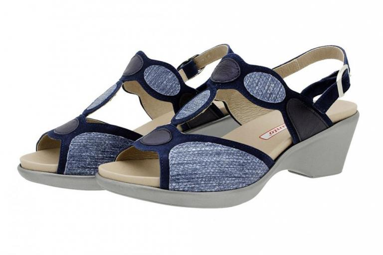 Removable Insole Sandal Blue Suede 180863