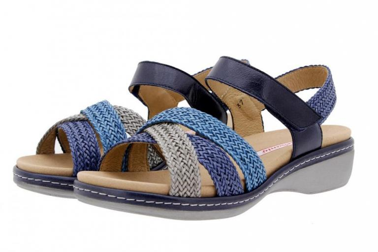 Removable Insole Sandal Interlaced Grey-Blue-Turquoise 1809