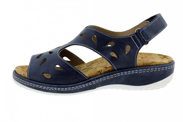Removable Insole Sandal Leather Blue 180907