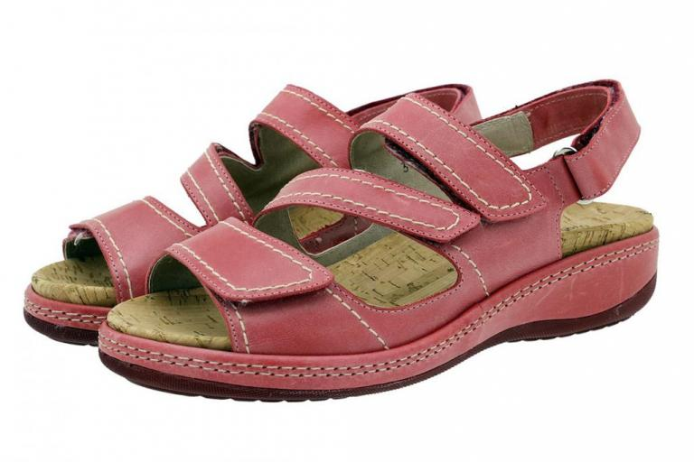 Removable Insole Sandal Leather Red 180915
