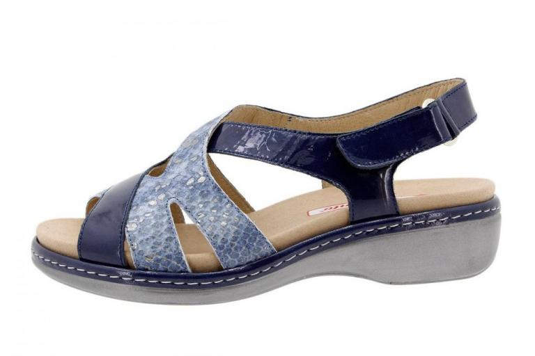 Removable Insole Sandal Patent Blue 1813