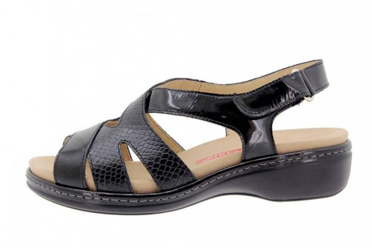 Removable Insole Sandal Patent Black 1813