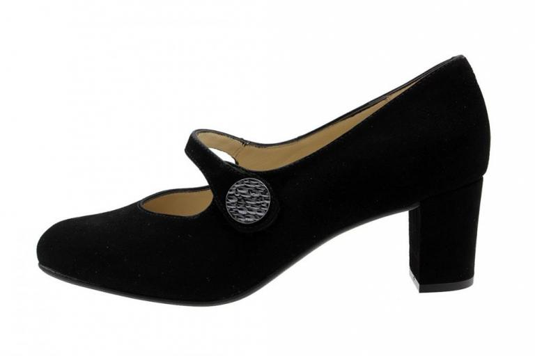 Mary-Jane Black Suede 185234